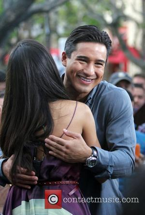 Freida Pinto and Mario Lopez appear on Extra at the Grove Hollywood, California - 09.11.11