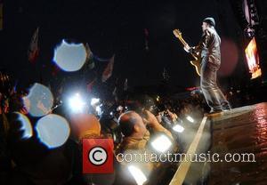 The Edge of U2 The 2011 Glastonbury Music Festival held at Worthy Farm in Pilton - Day 1 - Performances...