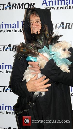 Lou Reed and Lucky the dog  Animal Fair 11th Annual Howl-o-ween Pet Costume Party at the Copacabana  New...