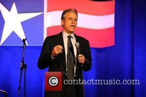 Daily Show Host Jon Stewart performing at The Bob Woodruff Stand-Up for Heroes Gala at the Ronald Reagan International Building...