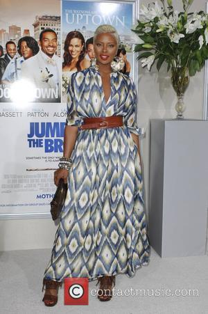 Eva Marcille Pigford  Los Angeles premiere of 'Jumping The Broom' held at the ArcLight Cinema in Hollywood Los Angeles,...