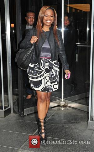 Atlanta House Wife Kandi Burruss visits the Joy Bayer Show New York City, USA - 31.10.11