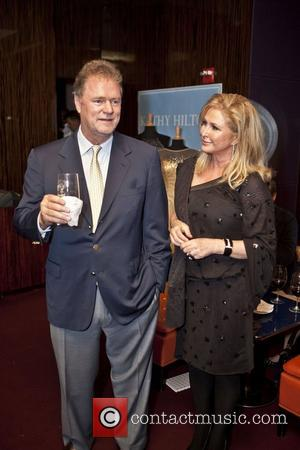 Rick Hilton and Kathy Hilton at a party to celebrate the launch of the new Kathy Hilton Collection at Le...