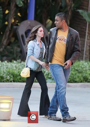 Eliza Dushku and Rick Fox  Celebrities arrive at The Staples Center for Game 2 of the NBA Western Conference...