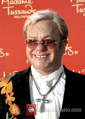 Elton John Waxwork Madame Tussauds Hollywood Celebrates the Royal wedding with a live screening of a Jumbo Tron Hollywood, California...