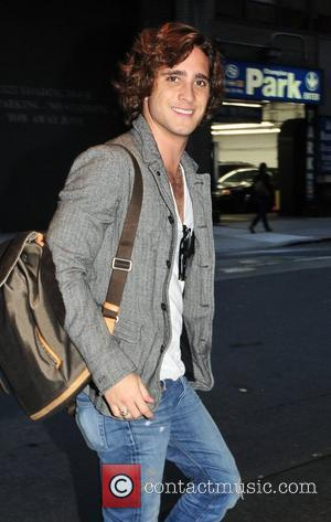Diego Boneta leaving his Manhattan hotel New York City, USA - 08.11.11
