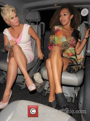 Kerry Katona and Danielle Brown stop at Maroush restaurant for a late night snack After a night on the town...