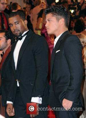 Kanye West and Bruno Mars