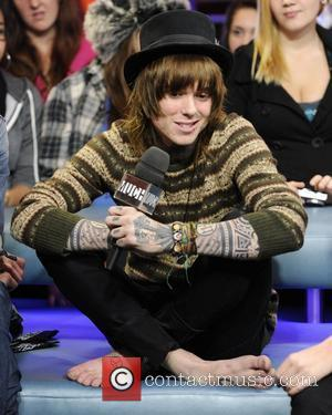 Christofer Drew  'Never Shout Never' appear on Much Music's New.Music.Live promoting their latest album 'Time Travel'.  Toronto, Canada...