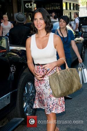 Olivia Munn  Mercedes-Benz New York Fashion Week Spring/Summer 2012 - Project Runway - Celebrities Around Lincoln Center New York...