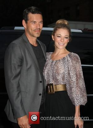 Eddie Cibrian and LeAnn Rimes  is seen during Mercedes Benz New York Fashion Week - Day 3 New York...