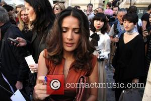 Salma Hayek And Catherine Deneuve Forced To Stand At Paris Fashion Week Show