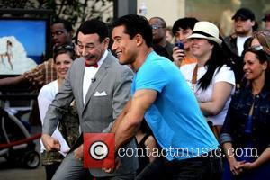 Pee Wee Herman aka Paul Reubens is interviewed by Mario Lopez on Extra at the Grove Hollywood, California - 09.03.11