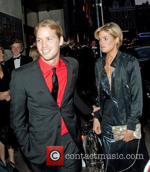 Sam Branson and his girlfriend arrives at a party thrown by his father, Richard Branson at the Kensington Roof Gardens...