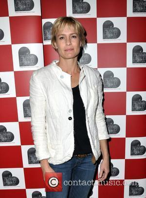 Robin Wright at a Q & A session on Rape in the Democratic Repubic of Congo at the Frontline Club,...