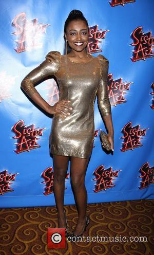 Patina Miller wearing a gold Balmain dress Opening night after party for the Broadway musical production of 'Sister Act'...