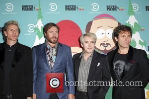 Jon Taylor, Simon Le Bon, Nick Rhodes and Roger Taylor of Duran Duran South Park's 15th Anniversary Party at The...