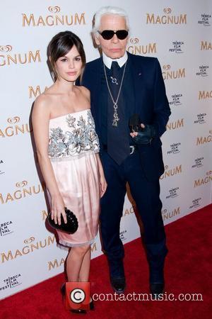 Rachel Bilson and Karl Lagerfeld