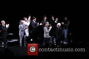 Joel Grey, George C Wolfe, Joe Mantello, John Benjamin Hickey, Lee Pace, Mark Harelik and Patrick Breen
