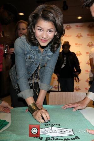 Zendaya Coleman star of the Disney Channel's new hit series Shake it Up! makes her signature shake at Millions of...
