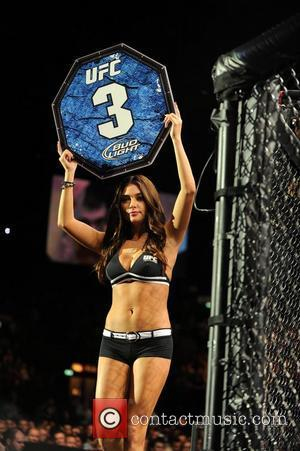 Pictured is ring girl and Playboy model Arianny Celeste UFC 138, Ultimate Fighting Championships at the LG Arena in Birmingham,...