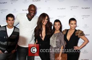 Lamar Odom, Khloe Kardashian, Kim Kardashian and Kourtney Kardashian