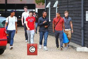 Jordan Higo, Bradley Johnson, Ashford Campbell, Richard Milford, Stefan Romer of Nu Vibe  'X Factor Finalists' at a dance...