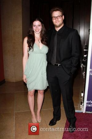Lauren Miller (L) and Seth Rogen  The Alzheimer's Association's 19th Annual A Night At Sardi's   Held At...