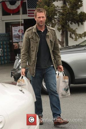 Aaron Eckhart leaving Bristol Farms with his weekly shop Los Angeles, California – 17.06.11