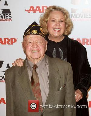 Mickey Rooney and his wife Jan Chamberlin AARP The Magazine's 10th Annual Movies for Grownups Awards held at the Beverly...