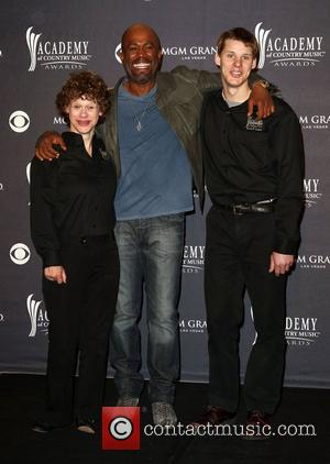 Betsy James, Darius Rucker and Jimmy Clarke The Academy of Country Music Awards 2011 at MGM Grand Garden Arena -...