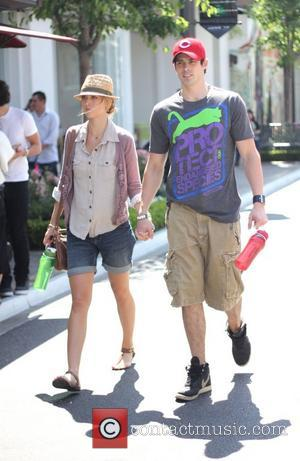 Adam Gregory and girlfriend Sheridan Sperry holding hands at The Grove in West Hollywood Los Angeles, California - 13.06.11