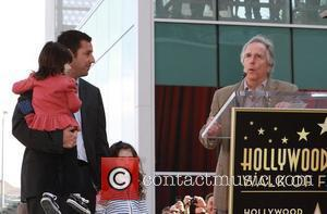 Sandler On Daddy Duty At Hollywood Star Unveiling