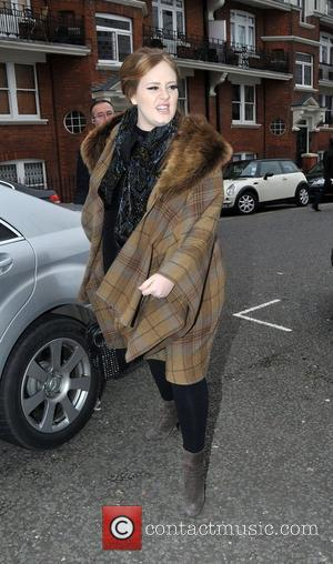 Adele arrives at BBC Maida Vale studios for 'The Live Lounge' London, England - 27.01.11