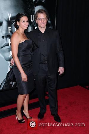 Luciana Barroso and Matt Damon