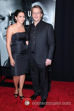 Luciana Barroso and Matt Damon The Adjustment Bureau - New York Premiere held at the Ziegfeld Theatre New York City,...
