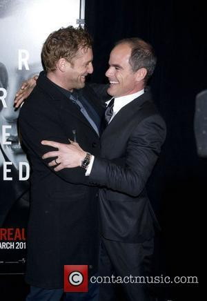 Josh Lucas and Michael Kelly New York premiere of 'The Adjustment Bureau' at the Ziegfeld Theatre New York City, USA...