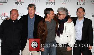 Agustin Almodovar, Antonio Banderas, Pedro Almodovar and Grauman's Chinese Theatre
