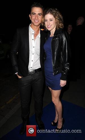 Richard Fleeshman and Caissie Levy,  at the Ghost aftershow party held at the Radisson Hotel - Arrivals Manchester, England...