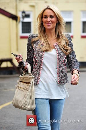 Alex Curran aka Alex Gerrard, who announced her pregnancy on Tuesday, leaving a restaurant after having lunch with friends...