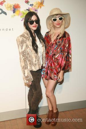 The Veronicas    Alice and Olivia by Stacey Bendet Spring/Summer2012 Presentation at the Highline Stages New York City,...