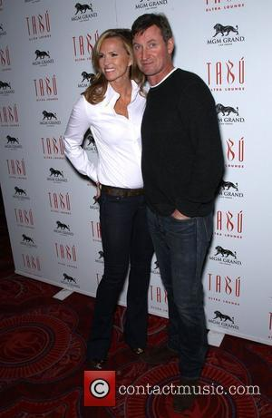 Janet Jones and Wayne Gretzky Sports Dream All-Star celebrity Blackjack tournament at Tabu Ultra Lounge inside the MGM Grand Hotel...
