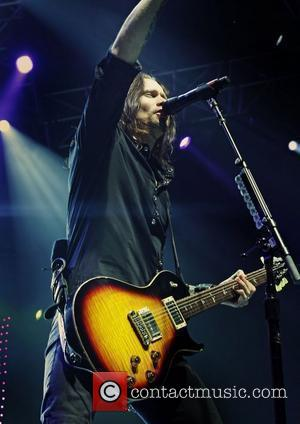 Myles Kennedy of Alter Bridge performing at the Manchester MEN Arena. Manchester, England - 24.11.11