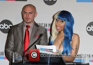 Pitbull, Nicki Minaj 2011 American Music Awards Nominees Press Conference held at JW Marriott Los Angeles at L.A. LIVE Los...