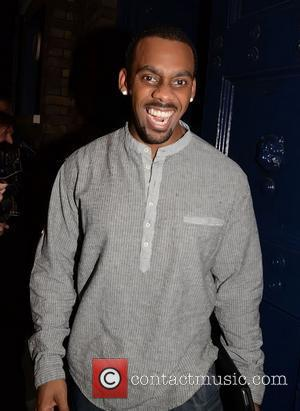 Richard Blackwood is seen leaving the Theatre Royal after performing in Shrek The Musical London, England - 25.08.11