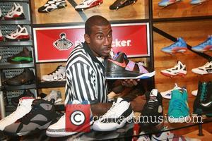 Amare Stoudemire showcases a sampling of his very own shoe collection including the new Nike Air Max Sweep at Foot...