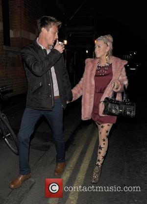 X Factor contestant Amelia Lily leaving 'Priscilla Queen of the Desert - The Musical' holding hands with a male companion....