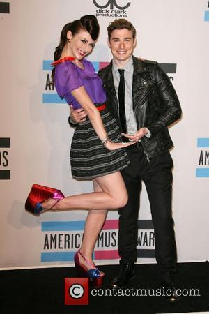 Amy Heidemann and Nick Noonan of the band Karmin  2011 American Music Awards held at Nokia Theatre L.A. Live...