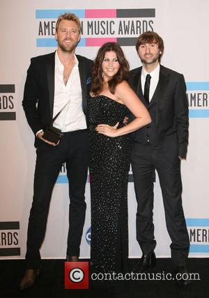 Charles Kelley, Dave Haywood, Hillary Scott, Lady Antebellum and American Music Awards