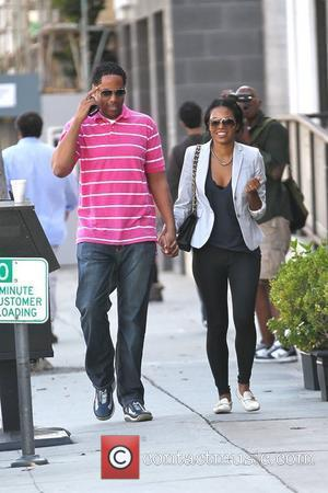 Amerie  and a male companion out shopping in Beverly Hills  Los Angeles, California - 27.10.11